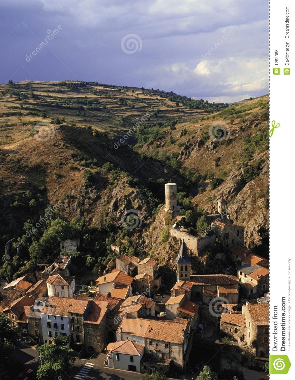 France Auvergne Massif Central Village Of St Floret Royalty Free.