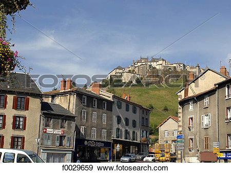 Stock Photograph of France, Auvergne, Saint.