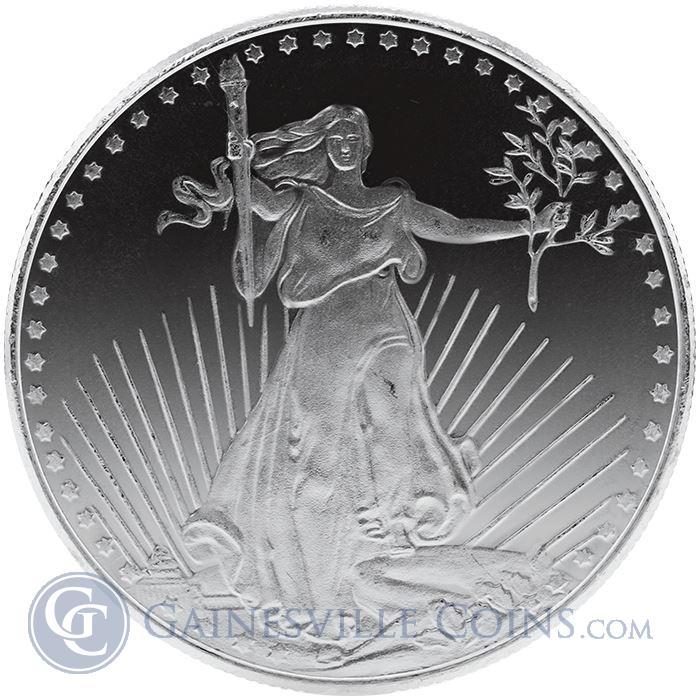 1 oz Saint Gaudens Silver Round.