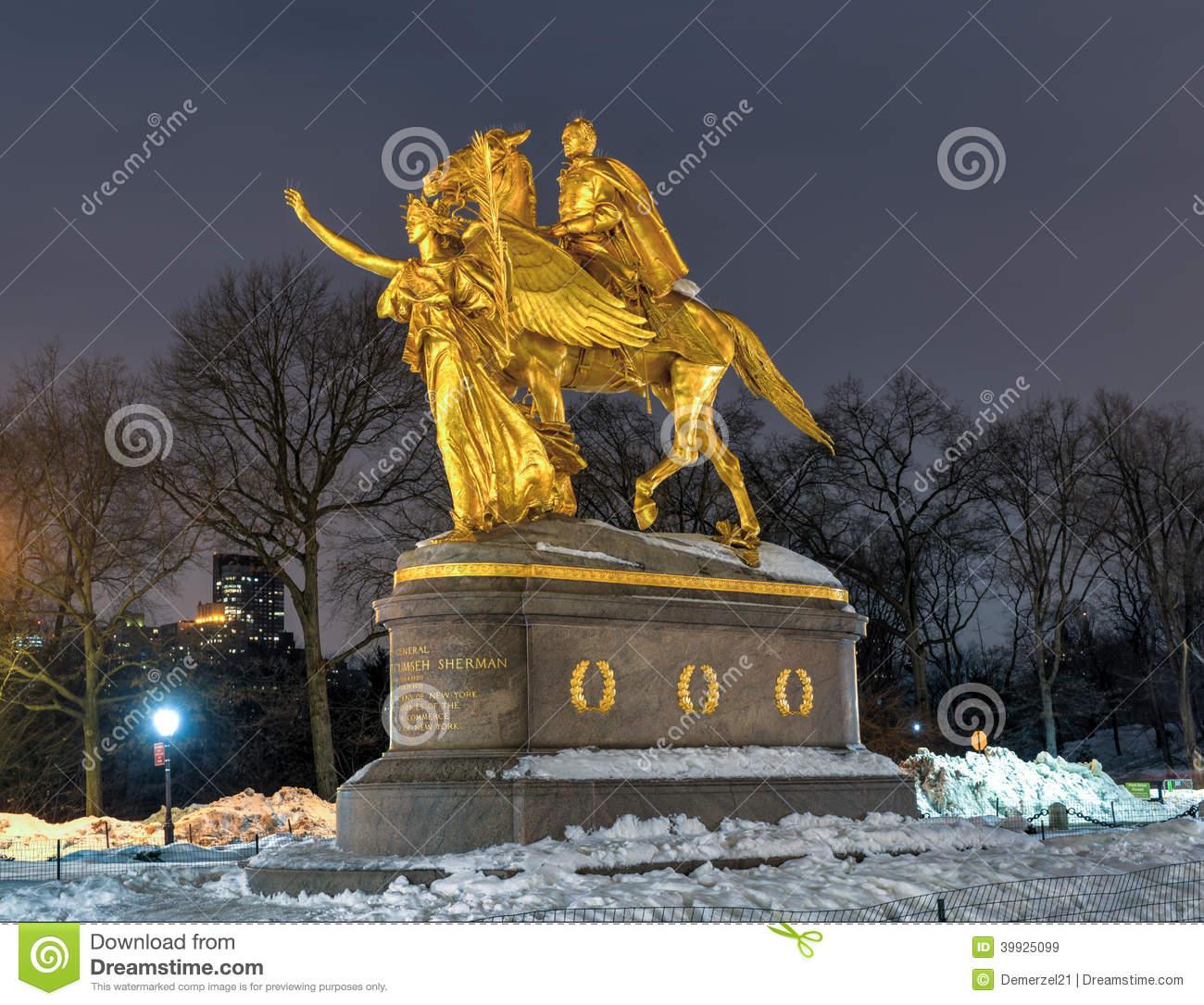 William Sherman Memorial Located In New York City On The Corner Of.