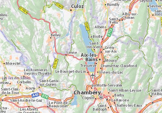 Carte détaillée Saint.