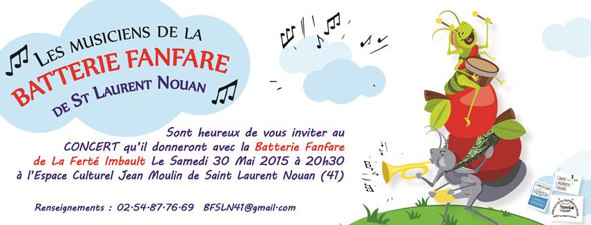 Concert de la BF de Saint Laurent Nouan (41) le 30 mai 2015.