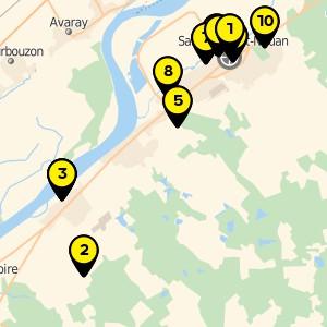 Terrain de sport à Saint Laurent Nouan.