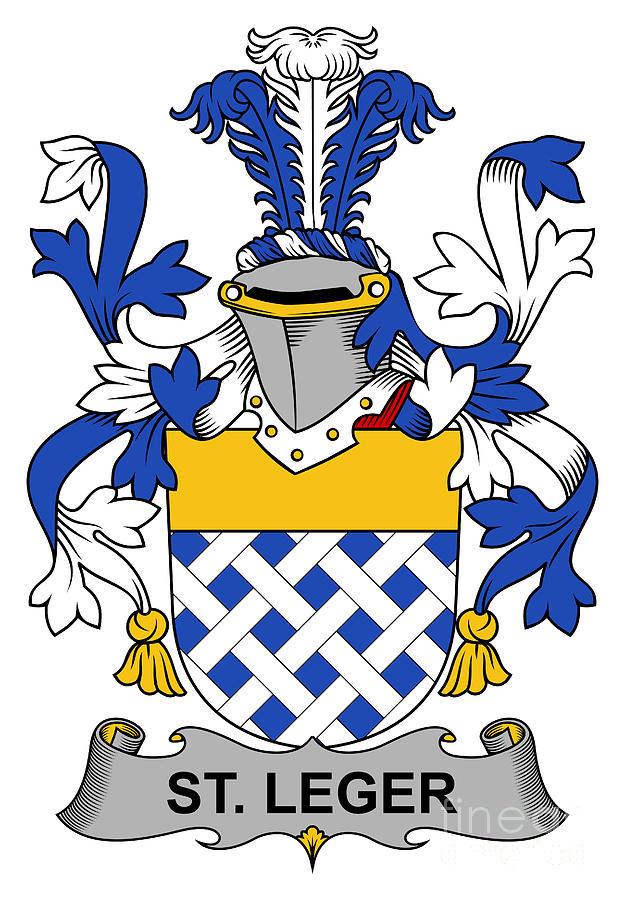 St Leger Coat Of Arms Irish Digital Art by Heraldry.