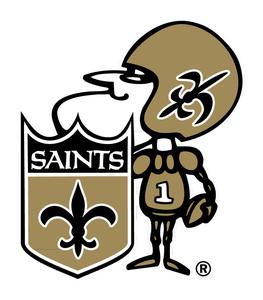 Saints Football Helmet Clipart.