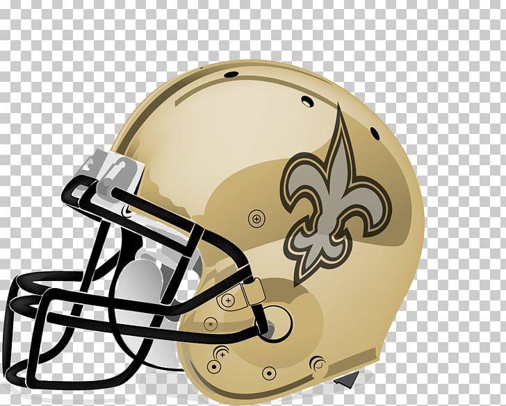 New Orleans Saints NFL Football Helmet American Football PNG.