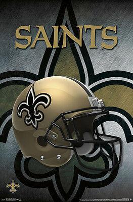 NEW ORLEANS SAINTS Official Team Logo Helmet Design NFL WALL POSTER.