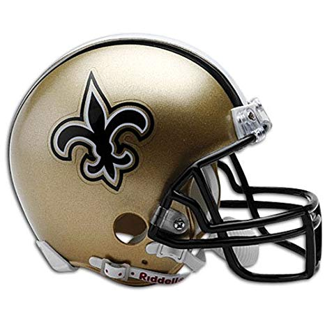 NFL New Orleans Saints Replica Mini Football Helmet.