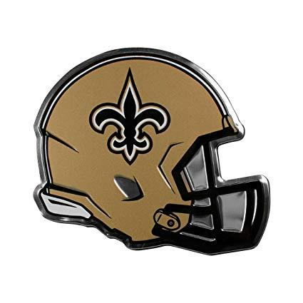 Team ProMark NFL New Orleans Saints Helmet Emblem, Black, Standard.