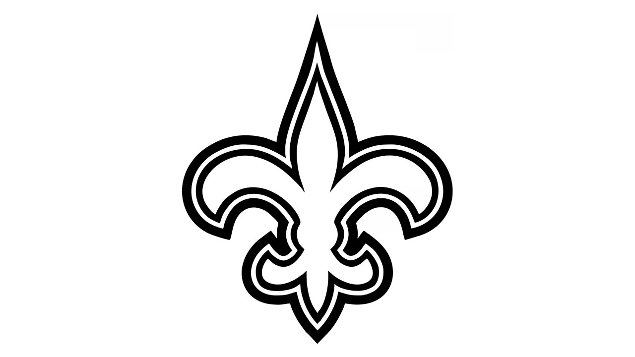 How to Draw the New Orleans Saints Logo (NFL).