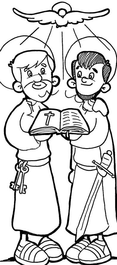 Apostle Paul Coloring Pages. Paul And Barnabas Coloring Pages.
