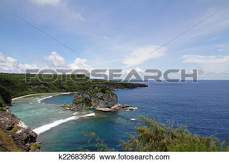 Stock Images of Bird island in Saipan k22683956.