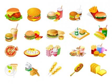 Westernstyle Makanan Cepat Saji Clip Art.
