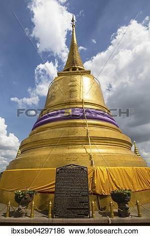 Stock Images of Wat Saket, Golden Mount Tempel, Phu Khao Thong.