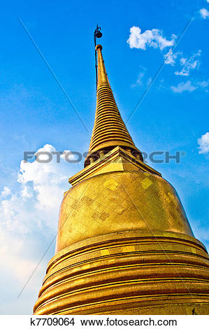 Stock Photo of temple Wat Saket, the golden mountain k7709064.