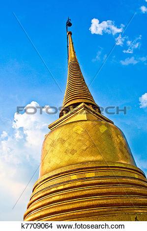 Stock Photo of temple Wat Saket, the golden mountain k7709064.