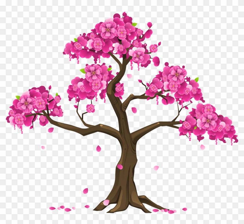 Pink Tree Png Clipart Image.
