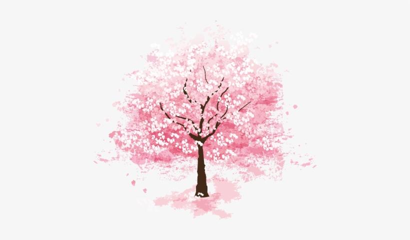 Png Sakura Tree Flower Picturesque Surro #498531.