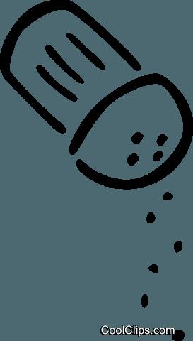 Sal e pimenta livre de direitos Vetores Clip Art ilustração.