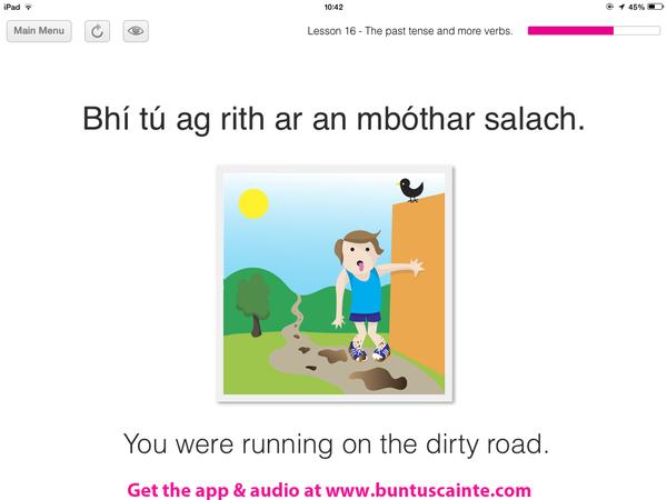 """Talk Irish on Twitter: """"Bhí tú ag rith ar an mbóthar salach.."""
