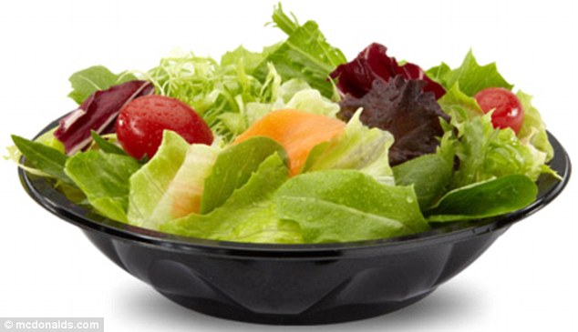 McDonald's to offer salads, vegetables or fruit to substitute.