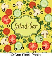 Salad bar Vector Clipart EPS Images. 374 Salad bar clip art vector.
