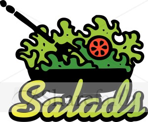 Salad For Word Clipart.
