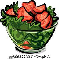 Salad Clip Art.