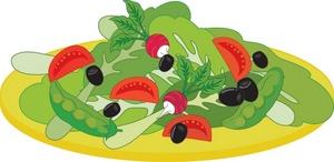 Chef Salad Clip Art.