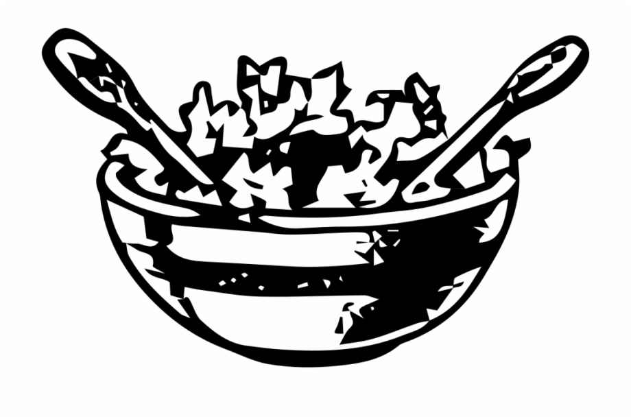 Salad Bowl Salad Bowl Clipart Black And White.