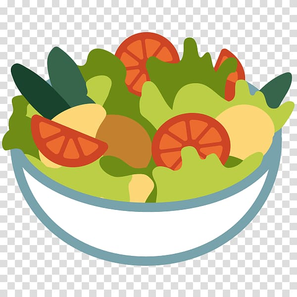Fruit salad Emoji Food Lettuce, salad transparent background.