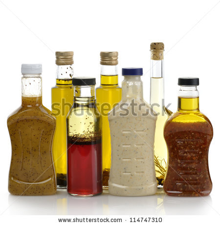 Salad Dressing Stock Images, Royalty.