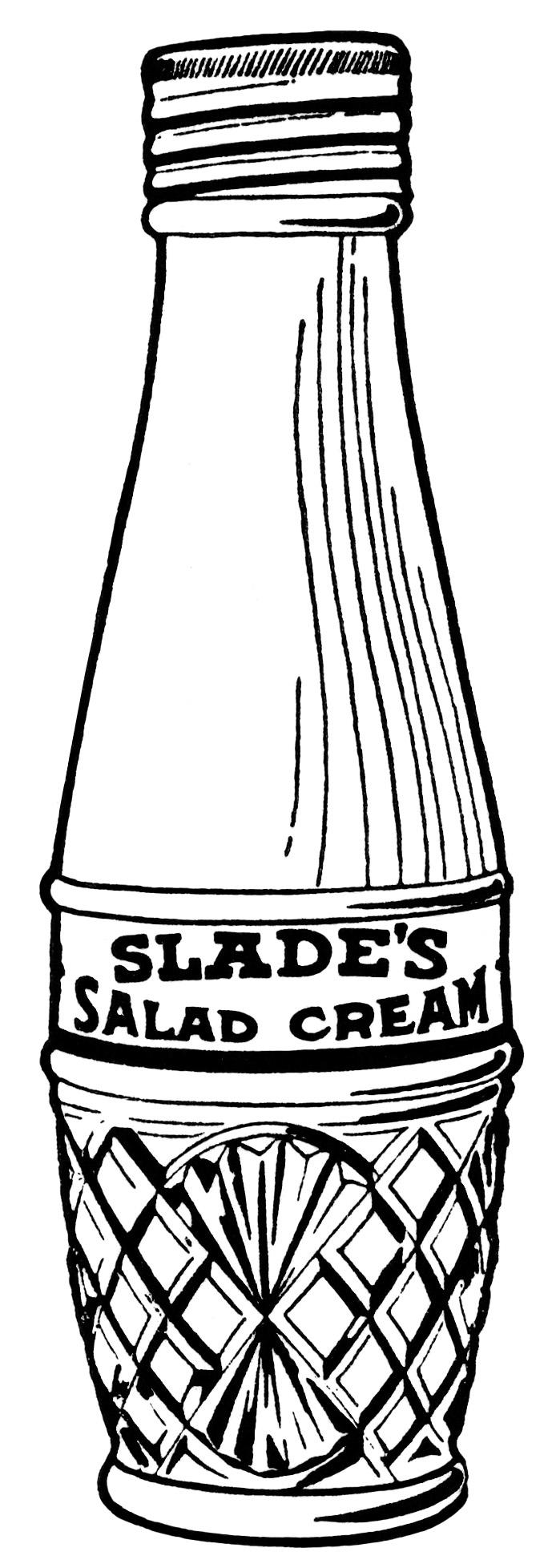 Vintage Salad Dressing ~ Free Clip Art.