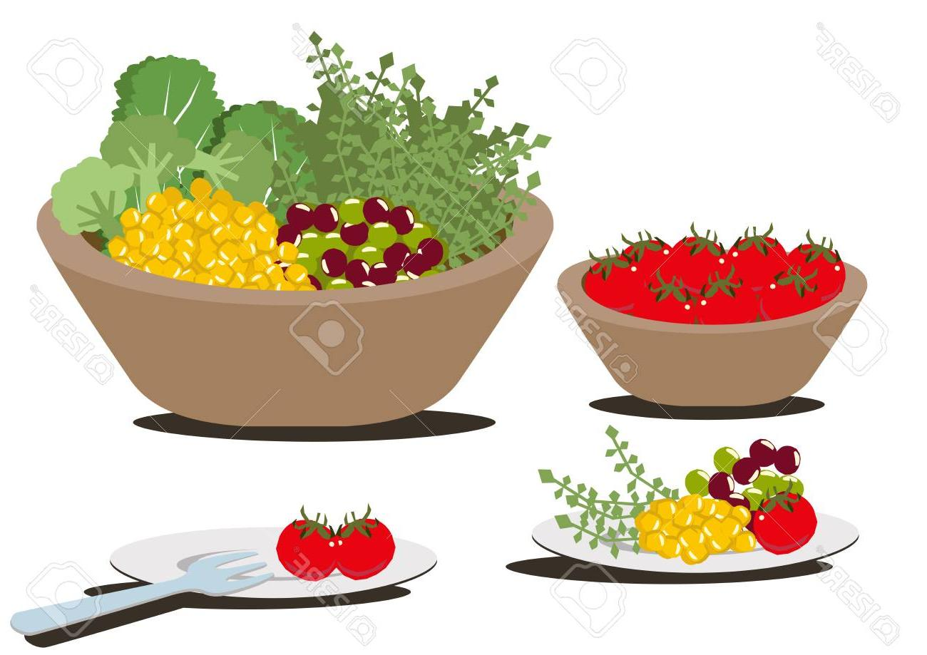 Best Free Salad In A Bowl Clip Art Drawing » Free Vector Art.