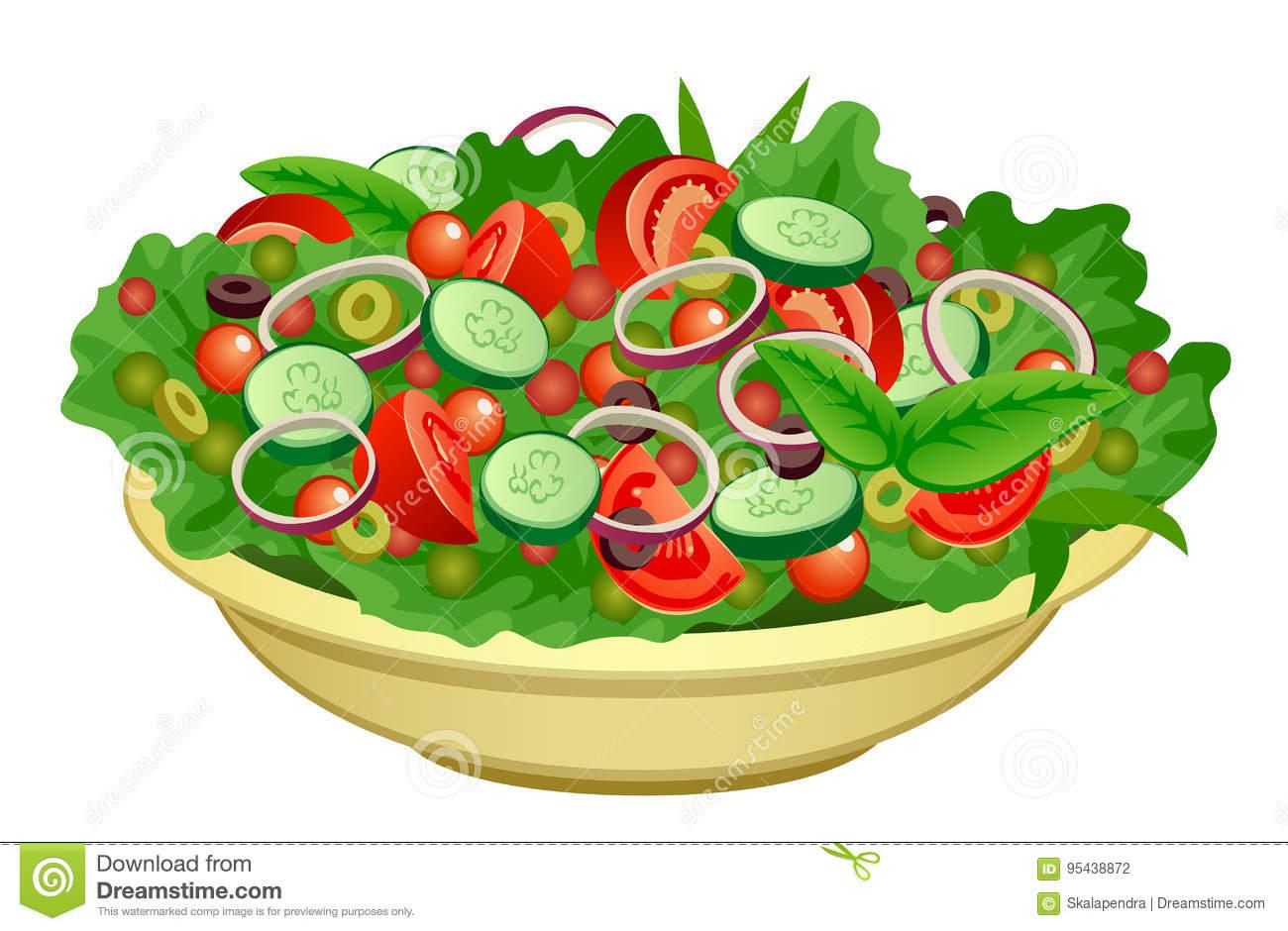1744 Salad free clipart.