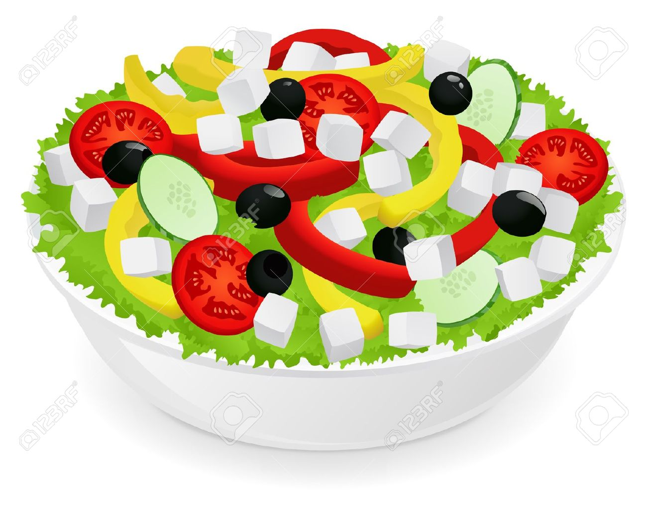 Vegetable Salad Royalty Free Cliparts, Vectors, And Stock.