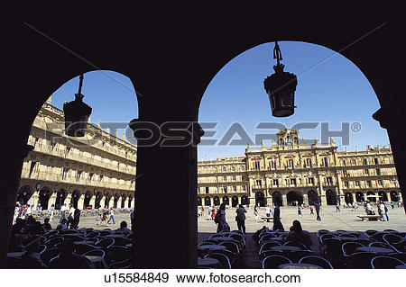 Stock Photograph of Spain, Castilla Leon, Salamanca, Arch, Arches.