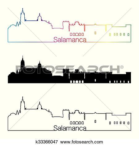 Clip Art of Salamanca skyline linear style with k33366047.