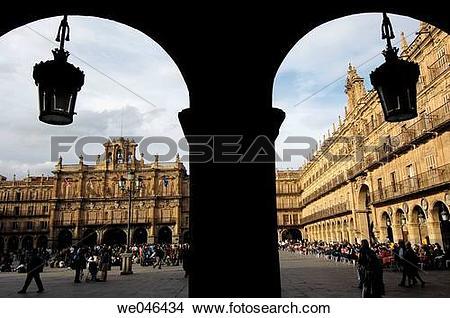Stock Photo of Main Square. Salamanca. Castilla.