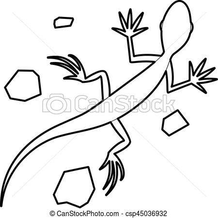 Vectors of Salamander icon, outline style.