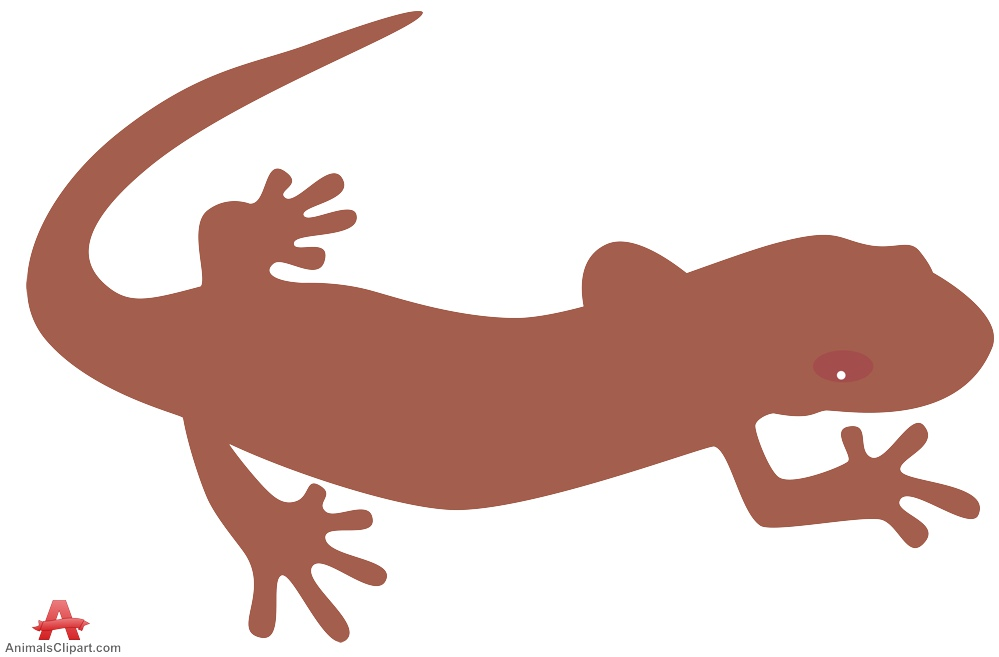 Salamander Lizard Silhouette Clipart.