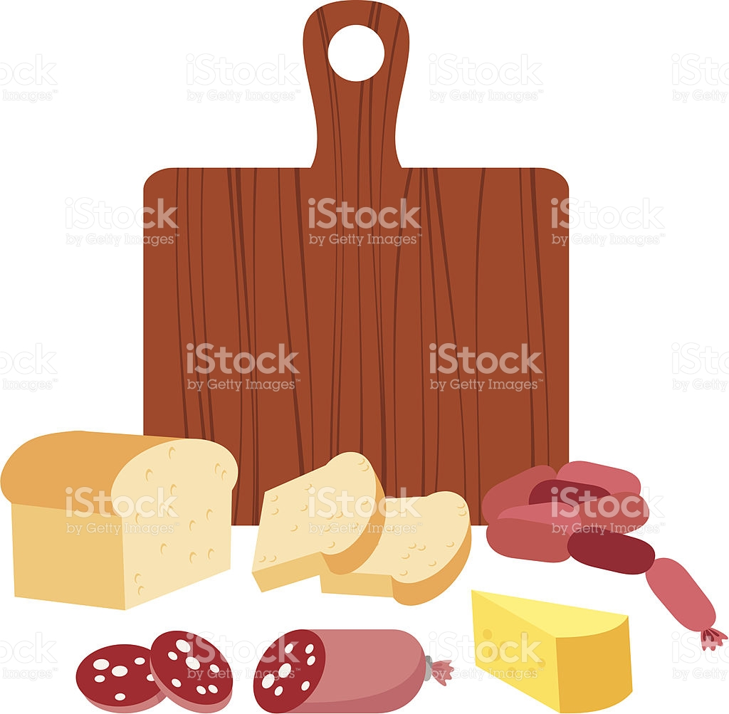 Cheese Bread Salami And Sausages stock vector art 119368539.