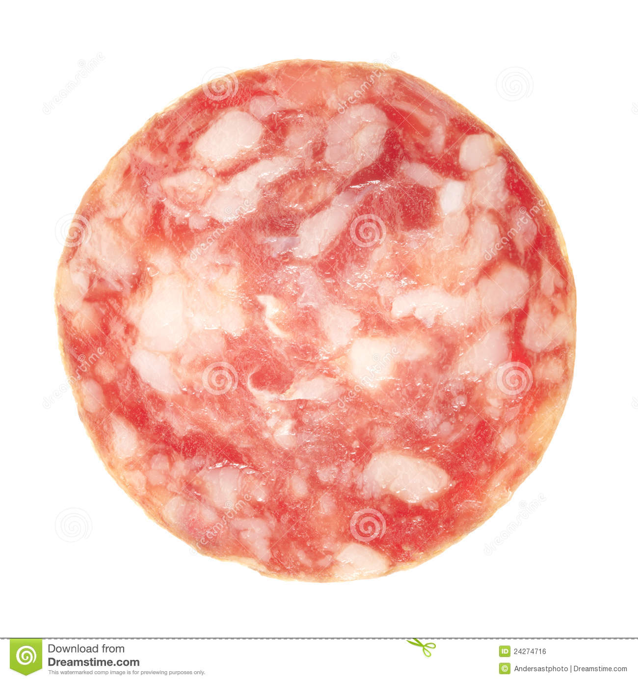 Slice Of Salami Clipart.