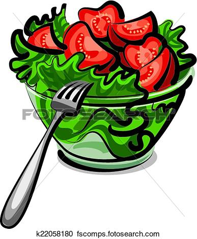 Salad Clip Art Illustrations. 16,870 salad clipart EPS vector in.