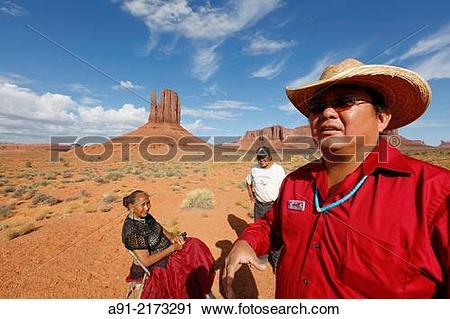 Stock Photography of USA, Arizona, Navajo reservation, Monument.