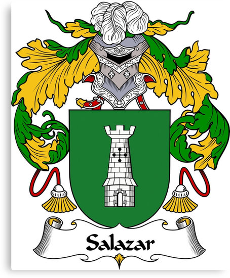 """Salazar Coat of Arms/Family Crest"""" Canvas Prints by William Martin."""