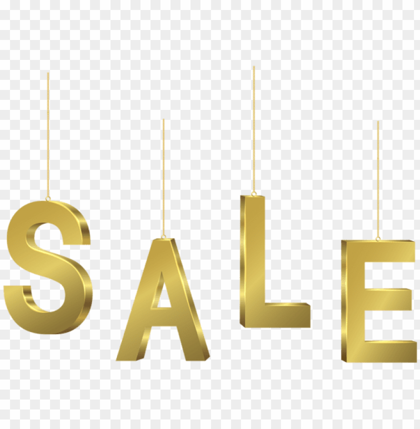 Download gold hanging sale transparent clipart png photo.