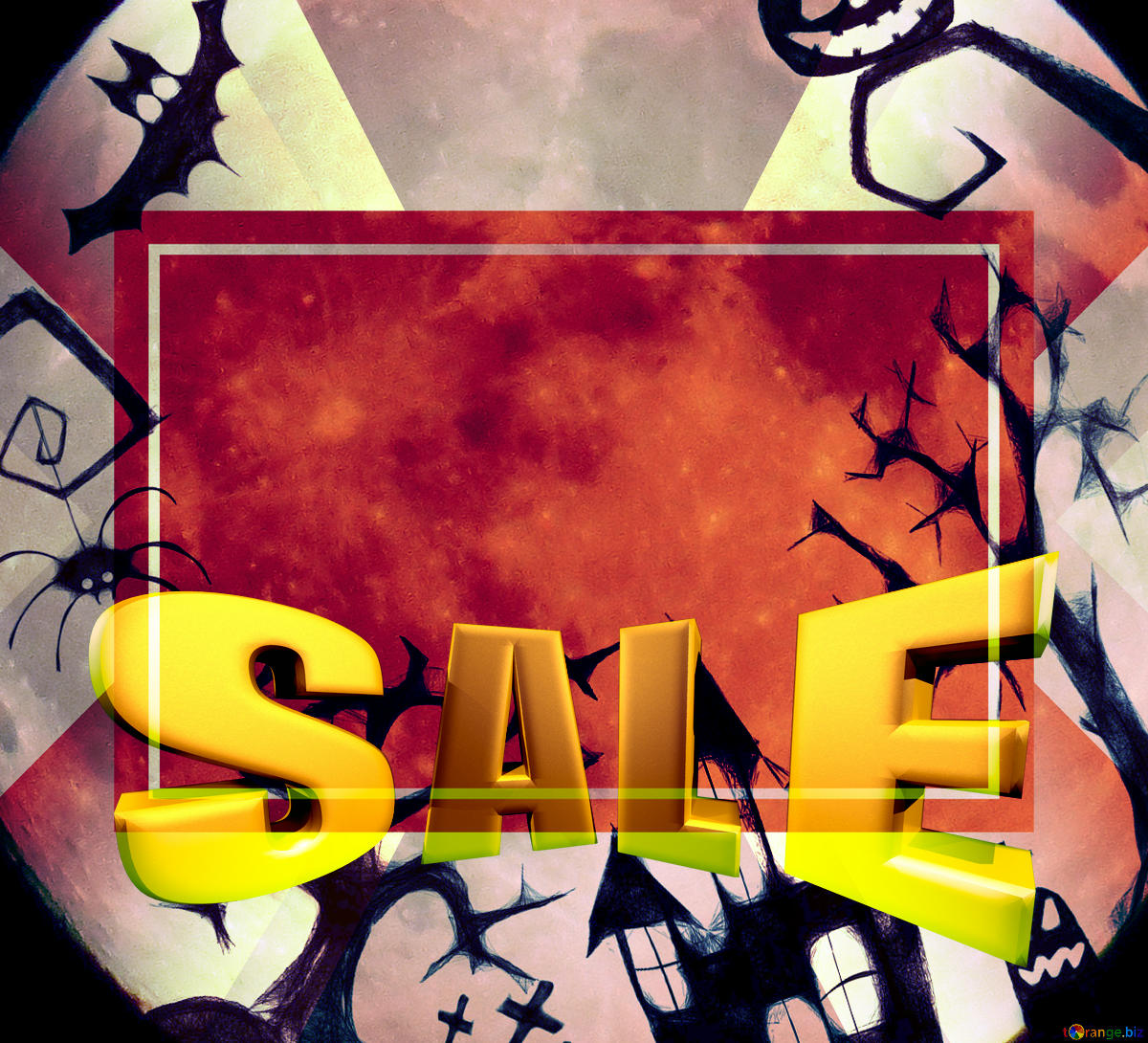 Download free picture Halloween clipart Sales promotion 3d.