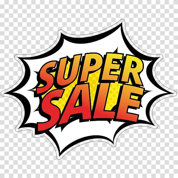 Promotion Logo, super sale transparent background PNG.