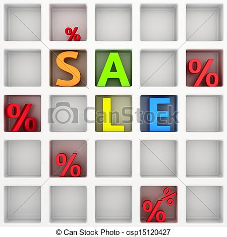 Clip Art of Happy Sales shelf.